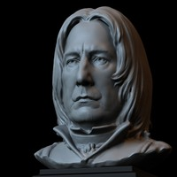 Small Severus Snape Bust 10inches 3D Printing 608