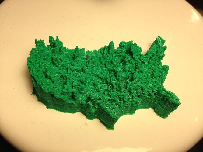 pocket unemployment map of the united states 3d print 60822