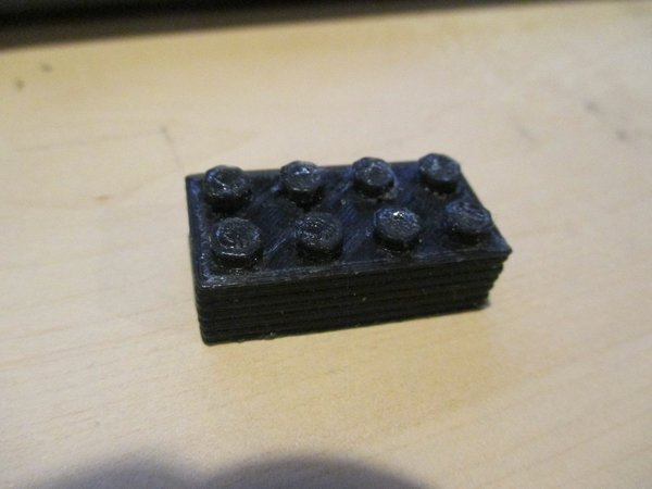 Medium Legotype Block 2 x 4 Pegs 3D Printing 60892