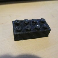 Small Legotype Block 2 x 4 Pegs 3D Printing 60892