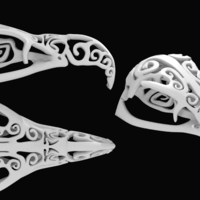 Small Filigree Vulture Skull 3D Printing 61106