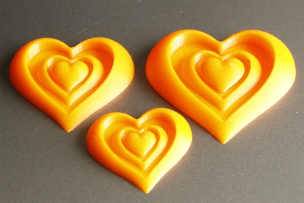 Medium Synergy of Love Heart Motif 3D Printing 61188