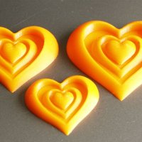 Small Synergy of Love Heart Motif 3D Printing 61188