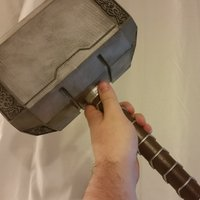 Small Life Size Thor's Hammer (Mjolnir) 3D Printing 61207