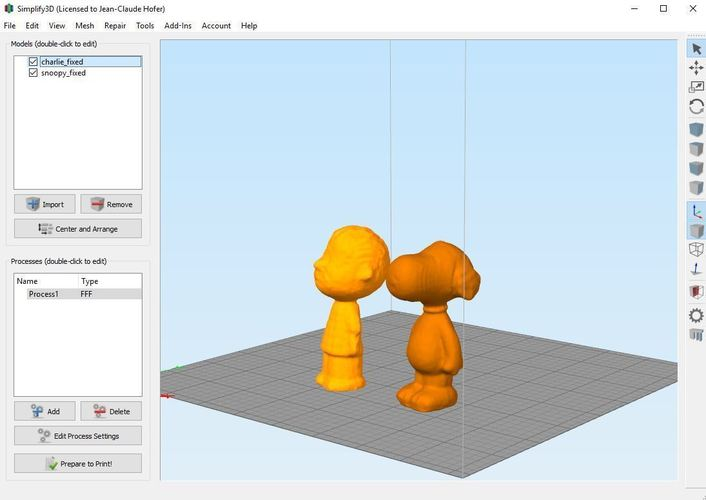 Snoopy and Charlie Brown 3D Print 61445