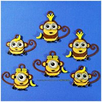 Small Monkey Minions Keychain / Magnets 3D Printing 61492