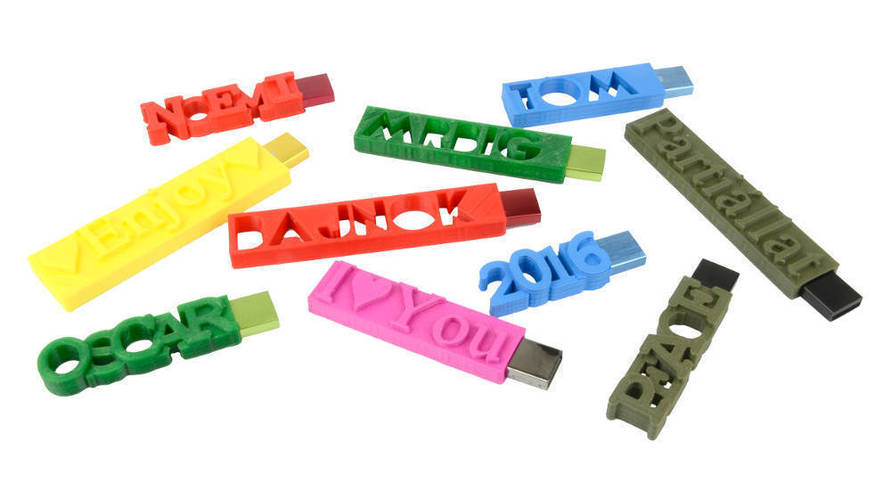 I♥YOU USB Flash Drive - Personalised USB 3D Print 61595