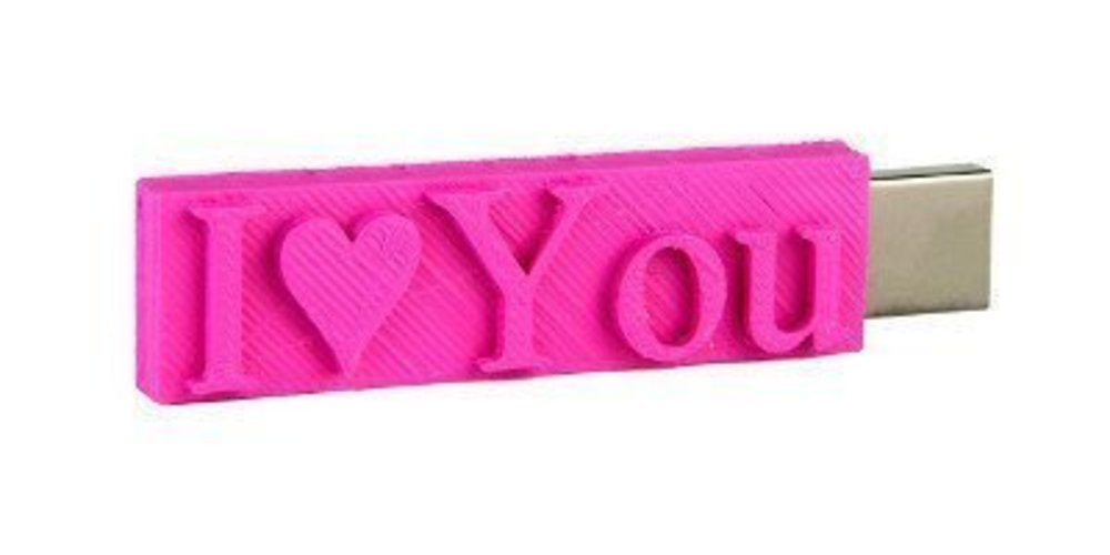 I♥YOU USB Flash Drive - Personalised USB 3D Print 61596