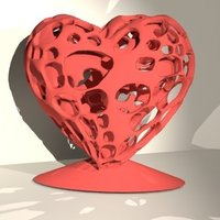 Small Heart in heart 3D Printing 61686