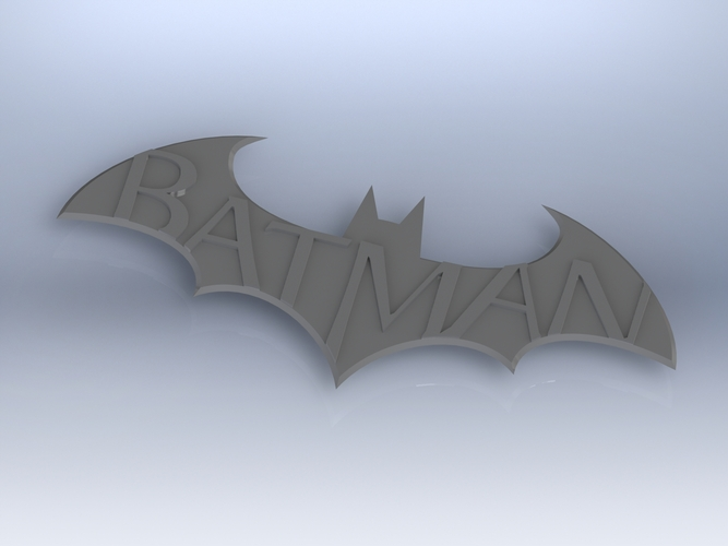 Batman Arkham City Logo V1 3D Print 617