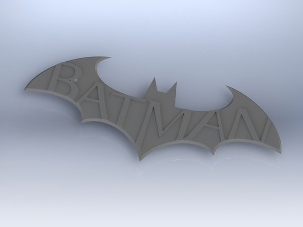 Medium Batman Arkham City Logo V1 3D Printing 617
