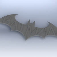 Small Batman Arkham City Logo V1 3D Printing 617