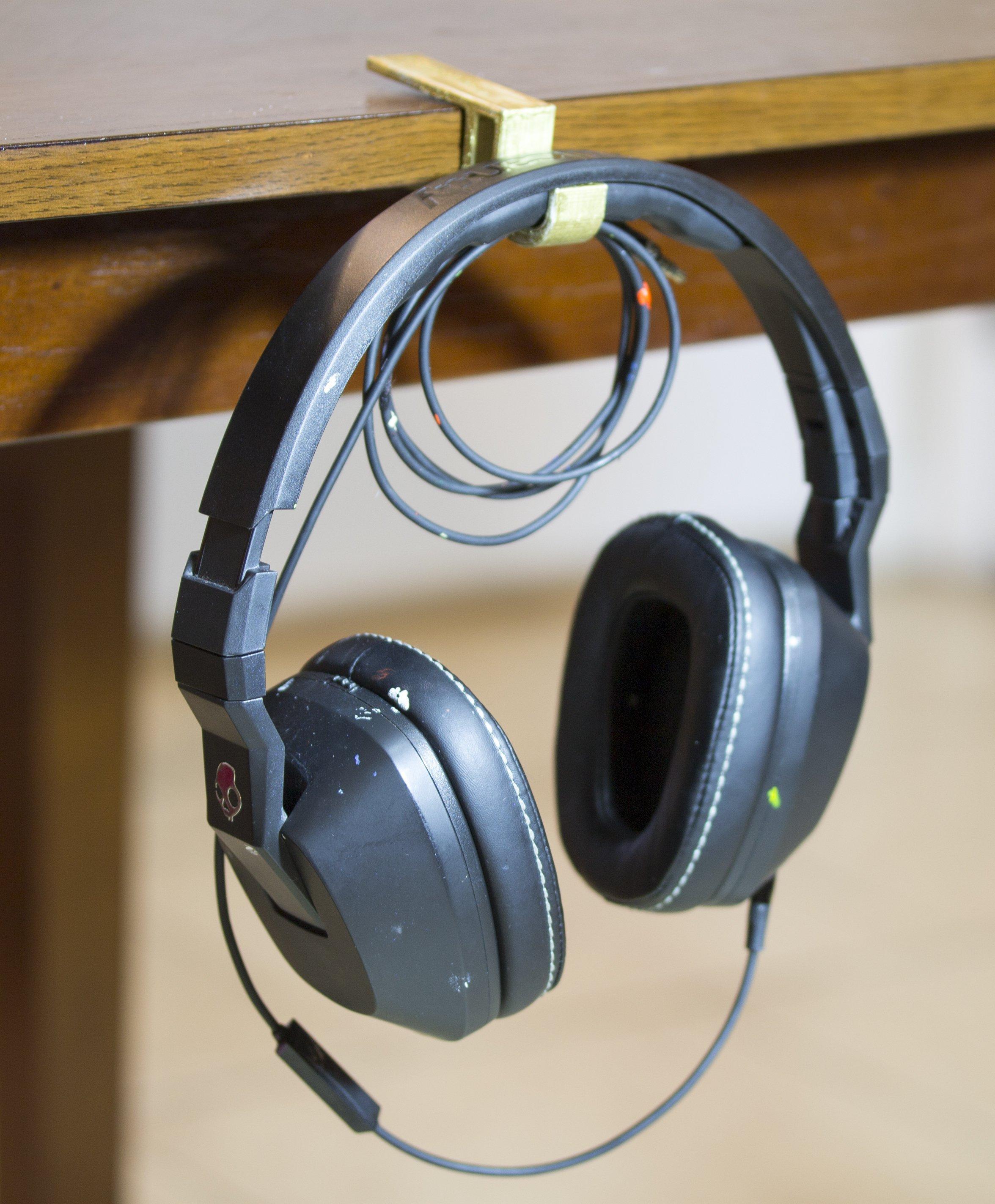 95bf638e9df 3D Printed Desk Headphone Holders by Conceptus3D | Pinshape