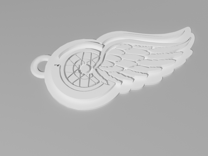 Detroit Red Wings Keychain 3D Print 61718