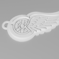 Small Detroit Red Wings Keychain 3D Printing 61718
