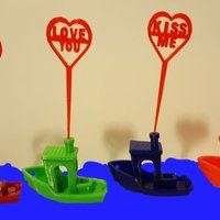 Small Valentine Picks 3D Printing 61743