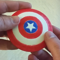 Small Mini Captain America Shield Magnet  3D Printing 61832