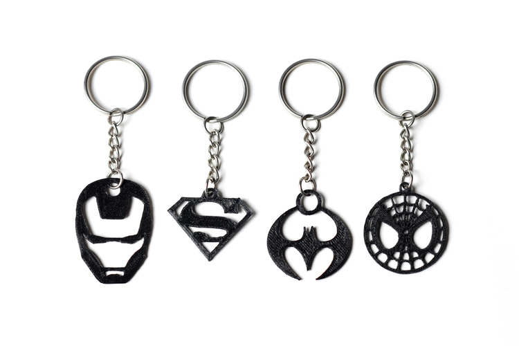 key chains picture 3D Printed Superhero Keychains by FORMBYTE | Pinshape