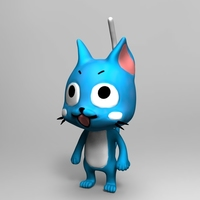 Small Happy Fairy Tail 3D Printing 62084