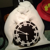 Small Two Bears Clock 3D Printing 62213