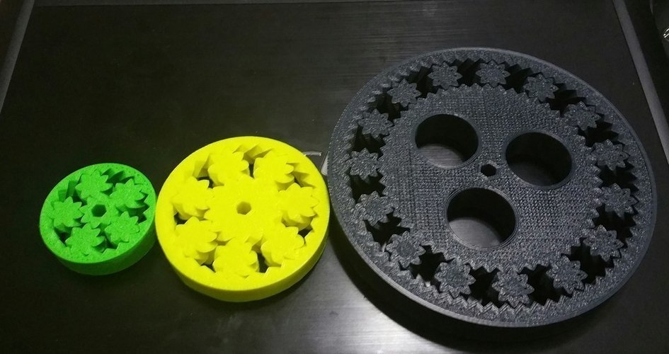 150mm 15 planet gear bearing with holes 3D Print 62240