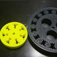 Small 150mm 15 planet gear bearing with holes 3D Printing 62240