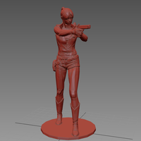 Small Claire Redfield - Resident Evil - Pose02 3D Printing 62354