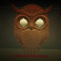 Small OWL CLOCK with moving eyes 3D Printing 62361