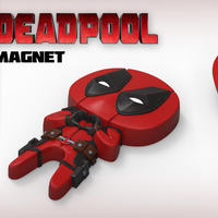 "Small Deadpool ""Feel The Love"" Magnet 3D Printing 62366"