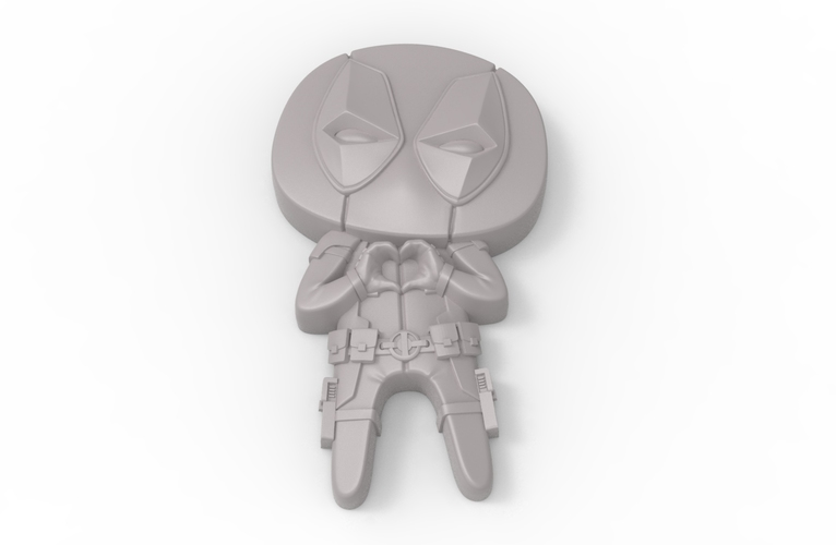 "Deadpool ""Feel The Love"" Magnet 3D Print 62367"