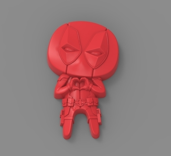 "Deadpool ""Feel The Love"" Magnet 3D Print 62368"