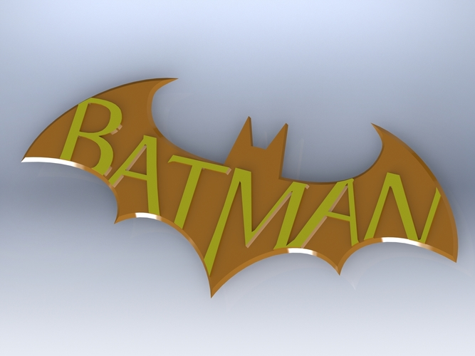 Batman Arkham City Logo V2 3D Print 624