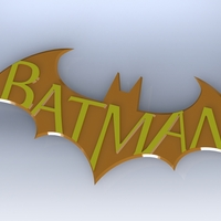 Small Batman Arkham City Logo V2 3D Printing 624
