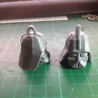 Small Darth Vader Head Keychain 3D Printing 62466