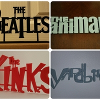 Small 60's Band Logos (Bundled Deal) 3D Printing 62482
