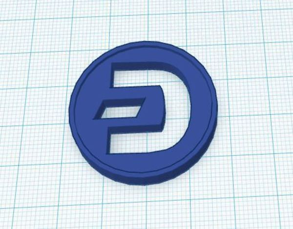 Medium Dash Coin / Logo coin / cryptocurrency 3D Printing 62630