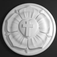 Small Martin Luther's Seal (The Luther Rose) 3D Printing 62793