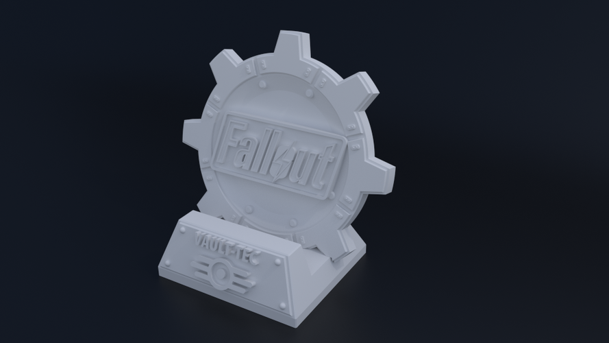 Fallout Themed Phone Dock 3D Print 62808