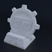 Small Fallout Themed Phone Dock 3D Printing 62808