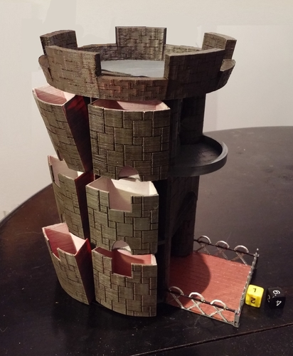 Mesmerizing image intended for 3d printable dice tower