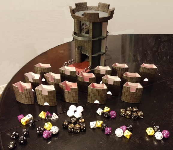 3d Printed Dice Tower And Storage By Xeriel Pinshape