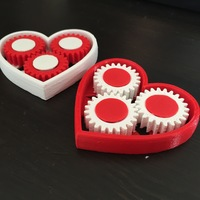 Small Geared Heart 3D Printing 62927
