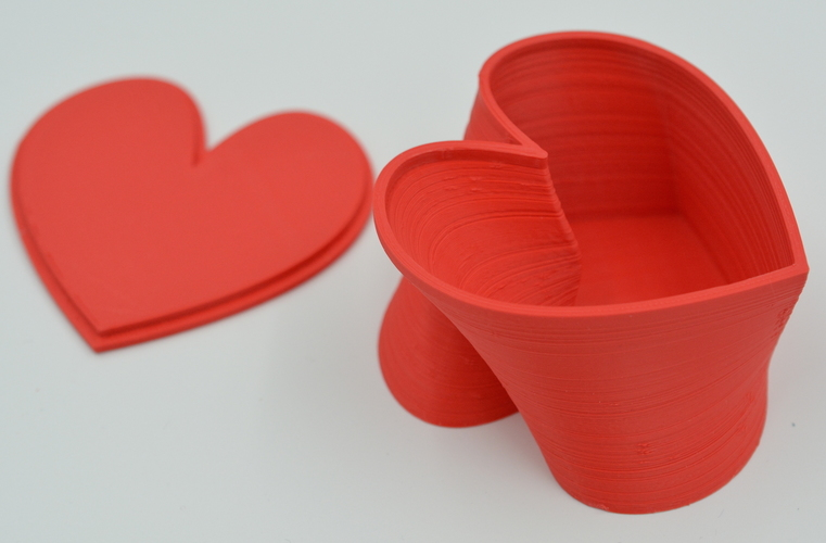 Twisted Heart Box by MkrClub.com 3D Print 62943