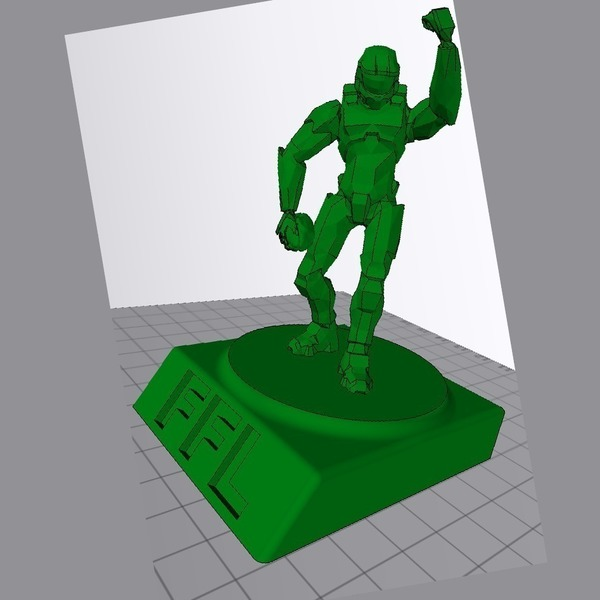 Medium Halo Fantasy Football trophy 3D Printing 63011