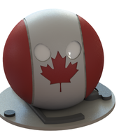 Small Canada countryball 3D Printing 63050