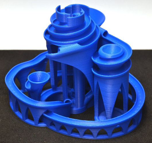The Cyclone: triple lift, triple track marble machine 3D Print 63054
