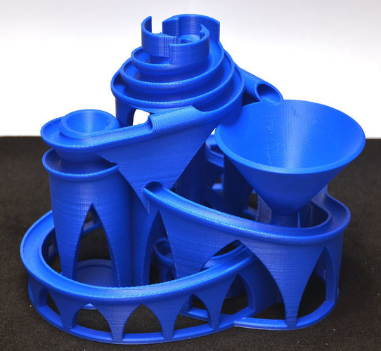 The Cyclone: triple lift, triple track marble machine 3D Print 63055