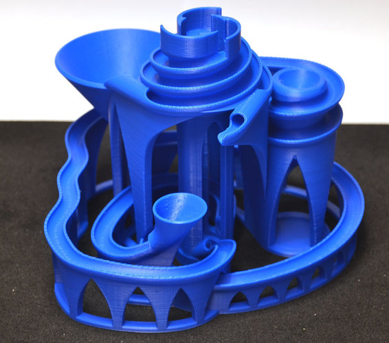The Cyclone: triple lift, triple track marble machine 3D Print 63056