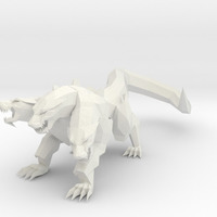 Small Cerberus Low Poly 3D Printing 63224
