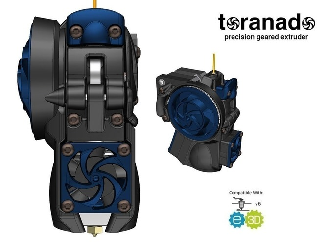 The Toranado Precision Geared 1.75mm Extruder 3D Print 63267